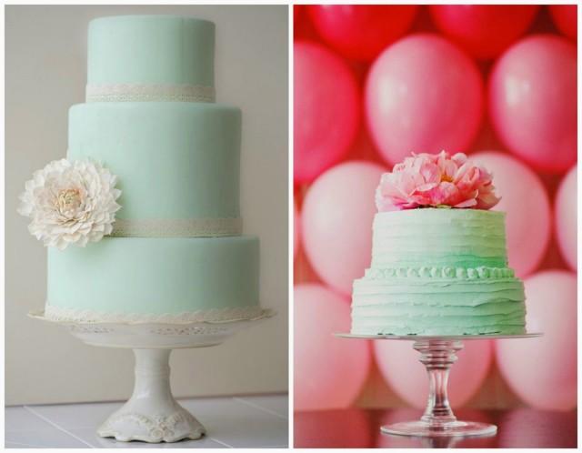 Naked versus painted cake