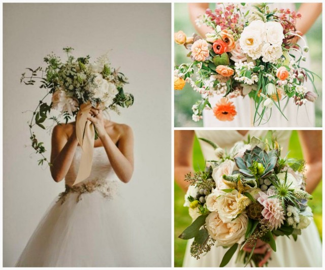 como combinar el bouquet con el vestido