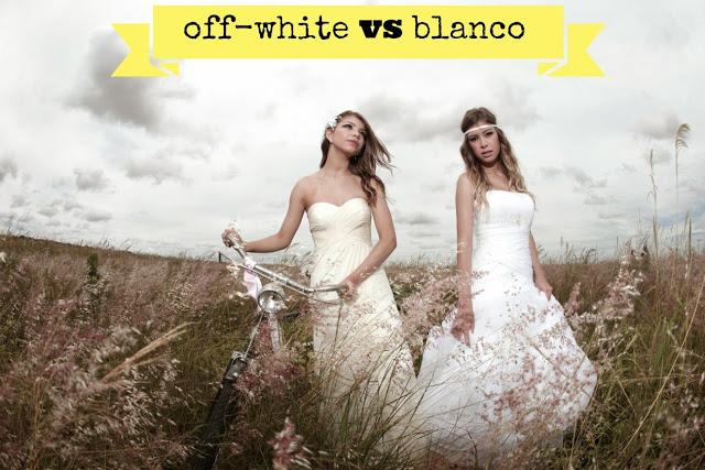 diferencia entre vestido blanco y offwhite o ivory