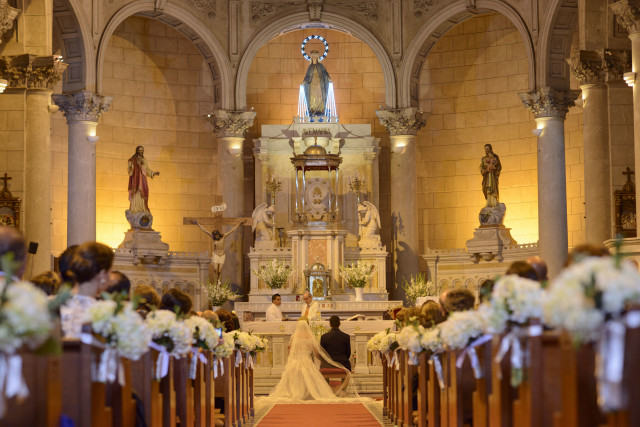 Matrimonio en la Iglesia Virgen Milagrosa en Lima Perú