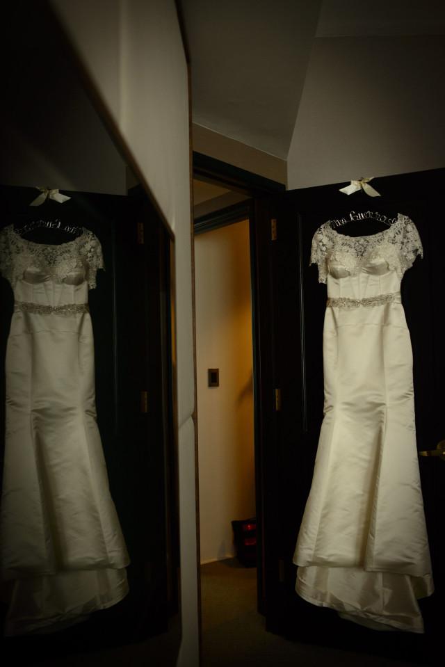 Vestido de novia clásico con bolero