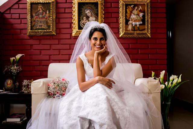 Matrimonio maria pia de velo de vainilla