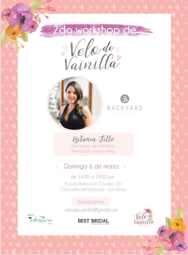 2do. Workshop de Velo de Vainilla