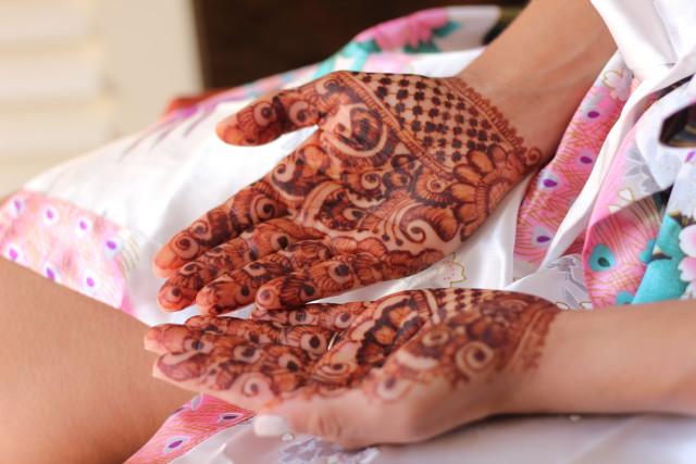 Tatuajes de henna para novias