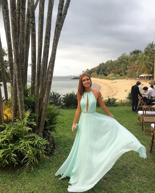 Vestido boda playa tarde